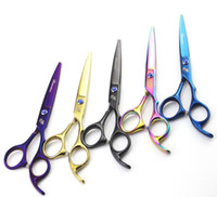 ingrosso forbici professionali per capelli da barbiere-coltello magico 6.0 pollici / 5,5 pollici professionale taglio / forbici assottigliamento Forbici per capelli per barbiere Cesoie a 4 colori