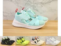 Wholesale rihanna sandals - Free Shipping Women Fenty Rihanna Avid Sandal Green White Beige Black Yellow Sneaker Design Trainers