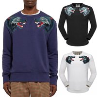Wholesale Wolf Sweatshirt Xl - 2018 Hot Sale Fashion Sweat Pullover Men Embroidery Two Wolf Casual Cotton Sweatshirt Man Sports Popular Jumper