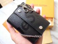 deri cüzdan anahtarlık toptan satış-FancyFantasy Yeni Iş Anahtarlık kırmızı Deri Çinko Alaşım Anahtarlık Araba Anahtarlık At Nalı Toka Lüks Anahtar Cüzdan # 7