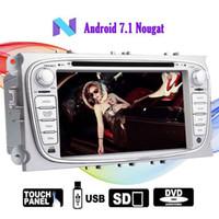 araba ford radyo navigasyon toptan satış-Eincar 7''Car dvd Stereo Ford Focus Android 7.1 için OCTA Çekirdek 2G RAM 32 GB ROM Bluetooth Çift Din GPS Navigasyon Oto Radyo
