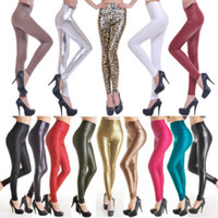 Wholesale size 18 clothes resale online - Fashion Sexy Women Skinny Faux Leather Stretch High Waist Leggings Pants Tights Colors Size Plus Size Women s Clothes XS L