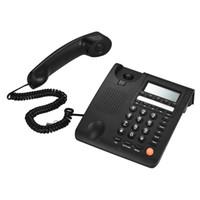 carcaça da exposição do lcd venda por atacado-Telefone com fio de mesa de telefone fixo Display LCD para casa Home Call Center Empresa de escritório Cabo de hotel De Telefono para Home Office