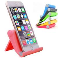 tablet tutturma yeri tutucu beşi toptan satış-Sıcak Taşınabilir Açı Ayarlamak Cradle Tutucu Standı Esnek Masa Telefonu tutucu Telefon Tablet LLFA için Destek Braketi Dağı