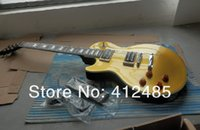 Wholesale left handed guitar bodies - Free shipping Wholesale price New left hand Slash golden Guitar Slash electric Guitar !