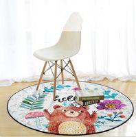 Wholesale livingroom decor - 60cm*60cm Cartoon Animal Pattern free-hand Lovely bear Anti-Slip Carpet New Home Decor Doormat Kitchen Bathroom Livingroom Floor Mat LJJM95