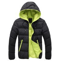 капот одежда для мужчин оптовых-2018 Winter Fashion  Plus Size Jacket Mens Solid Parkas Streetwear Hood Thick Quilted Jacket Puffer Bubble Coat Men Clothes