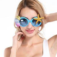 plaj sahanlıkları toptan satış-Komik Gözlük Pretty Denizyıldızı Tasarım Sandy Beach Için Güneş Gözlüğü Fotoğraf Dekorasyon Araçları Parti Karnaval Sahne Sıcak Satış 9 8sf Z