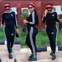 vêtements de détente femmes achat en gros de-Vêtements femme neo rose fille Costume sport manches longues + pantalon rose Sport Lounge Wear Costume de jogging femme