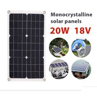 painéis solares flexíveis para barcos venda por atacado-Carregador de bateria 20 w 18 v Silício Monocristalino Carregador de Painel Solar flexível Para Motorhome Car Boats Roof 12 V Carregador de Bateria