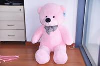 oyuncak bebek büyük boy toptan satış-2018 yeni 160 cm Satılık Pembe Yaşam Boyutu Bebek Peluş Büyük Teddy Bear Dev Büyük Yumuşak Oyuncaklar Teddy Bears Sevgililer / Noel Doğum Günü Günü Hediyesi