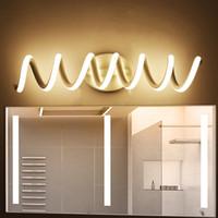 siyah duvar aydınlatma armatürü toptan satış-Modern minimalist yatak odası duvar lambaları 16 w AC96V-260V LED Aplik siyah beyaz lamba salon aydınlatma dekorasyon