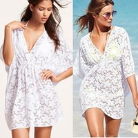 be01ae669cde New Beach Cover Up Bikini Crochet White Tassel Beachwear Summer Swimsuit  Bikinis Cover Up Sexy See-through Beach Dress