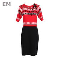 ingrosso vestito sottile da disegno europeo-EHMAXRTH 2018 design estate nuove donne europee temperamento vintage abito a maglia sottile di lusso maniche corte vestidos femminile E8884