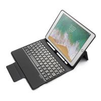 toque de teclado da china venda por atacado-LED Backlit Alumínio Bluetooth Teclado Inteligente Caso capa com Toque Caneta Teclado para ipad AIR / AIR 2 / PRO 9.7 / 2017/2018
