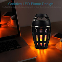 Wholesale Led Light Lamp Stand - Led Flame Lights with Bluetooth Speaker Portable Led Flame Lamp Atmosphere Lamp Stereo Speaker Sound Waterproof Dancing Party 0802221