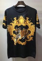 Wholesale Tiger 3d Tshirt - 2018 new European Summer luxury Brand tshirt designer Aristocratic tiger 3D printed t shirts cotton Men casual women t-shirt tops tee