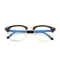 kadın için titanlı titanyum gözlük çerçeveleri toptan satış-Marka Anti Mavi Işık Gözlük Okuma Gözlükleri Koruma Gözlük Kadınlar Erkekler Için Titanyum Çerçeve Bilgisayar Oyun Gözlük Temizle gözlük