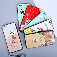 Wholesale Mobile Cell Phone Battery - New Apple 8 mobile phone shell iphone cell phone shell relief sleeve TPU creative custom painted cartoon