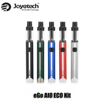 Wholesale ego starter led - 100% Original eGo AIO ECO Starter Kit 650mAh Battery 1.2ml Top Filling Airflow 7 colorful LED Tank AIO Kit Genuine