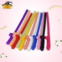 Wholesale bar party decorations - Funny Hen Party Drinking Straw Bachelorette Night Sucking Crazy Penis Straws Bar KTV Party Favor Decoration Supplies 3 1fk YY