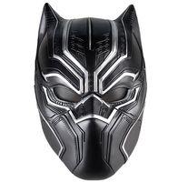 черные супергерои оптовых-Черная Пантера маски фильм Фантастическая четверка косплей мужская латексная маска для Хэллоуина косплей-реквизит Marvel Superhero Figure
