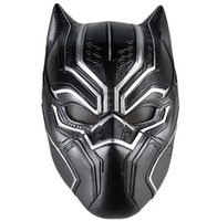 airsoft untere gesichtsmaske großhandel-Black Panther Masken Film Fantastische Vier Cosplay Herren Latex Party Maske für Halloween Cosplay-Requisiten Marvel Superhero Figur
