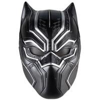 máscaras de super-heróis negros venda por atacado-Máscaras de Pantera negra Filme Fantástico Quatro Cosplay dos homens Látex Partido Máscara para o Dia Das Bruxas Cosplay-Props Marvel Superhero Figura