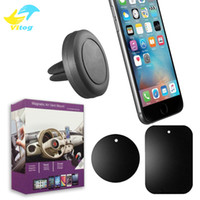 Wholesale holders cars online - Car Mount Phone Holder Air Vent Magnetic Universal Car Mount cell phone holder One Step Mounting Reinforced Magnet Easier Safer Driving