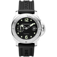 Wholesale mens automatic power reserve watch for sale - Mens Automatic mechanical watch PAM1024 Submersible Automatic Acciaio MM Black Rubber Watch Men s Sapphire water proof watch