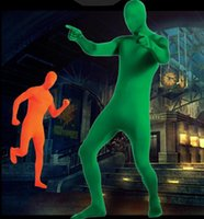 Wholesale lycra spandex costumes for sale - Full Body Suit Costume Adult nd Skin Lycra Spandex Zentai Halloween Fancy Dress P L