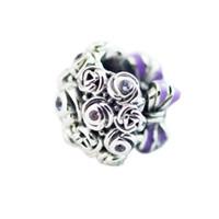 ramos de verano al por mayor-2018 Summer 925 Sterling Silver Jewelry Celebration Bouquet Charm Beads adapta pulseras collar para mujer que hace la joyería