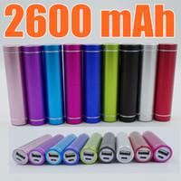 Wholesale External Battery Supply - Fashionable aluminum Lipstick 2600 mAh Power Bank Portable Backup External Battery USB Mobile charger Mobile Power Supply A-YD