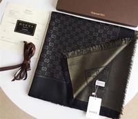 teintures d'or achat en gros de-2019 écharpe teint en fil de coton teint en fil de coton au design classique or et brillant, châle de marque de mode