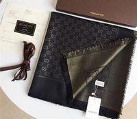 bufandas de hilo teñido al por mayor-Diseño clásico 2019 oro brillante e hilo de plata bufanda teñida con hilo de algodón marca de moda chal para mujer