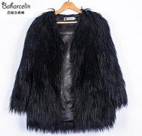 Wholesale Girl Long Pink Fur Coat - Baharcelin Plus Size Women Girl Clothing Autumn Winter Faux Fur Long coat Jacket women Outwear Fashion Slim Fur clothing
