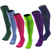 Wholesale free style soccer - Unisex Sports Running Football Soccer Long Socks Over Knee High Socks Safety Outdoor Sportswear Athletic Socks 10 Styles Free DHL G466Q