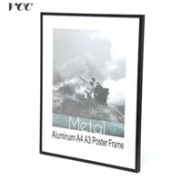 ingrosso arte in metallo muro in alluminio-VCC Frame Wall Art Decorativo, Nero Deluxe alluminio A4 A3 Poster Cornice per appendere a parete, cornice in metallo, cornice certificato,