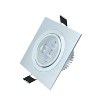 Wholesale Flush Mount Led Spot Lights - Square Flush Mount LED Ceiling Spot Light 6W 3W 110V 220V Down Spotlights Dimmable Lamparas for Supermarket Living Room Decoration CE ROSH