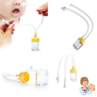 Wholesale Nose Types - New Born Baby Safety Nose Cleaner Vacuum Suction Nasal Aspirator Bodyguard Flu Protection Accessories Nose Cleaner Baby Safety BBA360