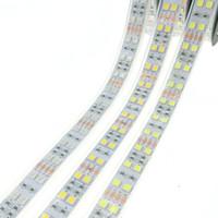 Wholesale Silicone Led Waterproof Smd - LED Strip 5050 120 LEDs m DC12V Silicone Tube Waterproof Flexible LED Light Double Row 5050 LED Strip 5m lot