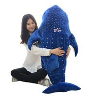 чучела животных оптовых-Гигантское животное китовая акула плюшевые игрушки большой чучела морских животных акула обнимая подушка кита игрушки для детей подарок 100 см 120 см 150 см DY50444