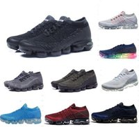 Wholesale Sneakers Belts - With box Vapormax Mens Running Shoes 2018 moc black belt New style For Men Sneakers Women Fashion Athletic Sports Shoes Walking Outdoor Shoe