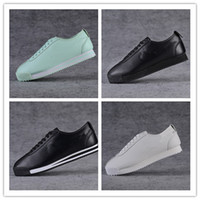 Wholesale Canvas Basic - Classic Cortez Basic Leather Casual Shoes Cheap Fashion Men Women Black White Red Golden Skateboarding Sneakers Size 36-45
