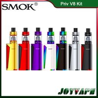Wholesale large mods for sale - Authentic SMOK Priv V8 Kit TFV8 Baby Tank ml With Priv V8 Mod W Dual LED Indicators With Large Fire Key Original