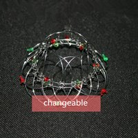 Wholesale Wholesale Wire Baskets - Palm blame flower basket, the 100 - change metal flower basket, the wire ball, the 100 - change iron wire toy, Magic Loops.