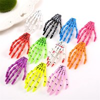Wholesale hair claw clip plastic for sale - Skull hand hair pins Skeleton Hand Claw Hair Clip For Women Girl Halloween Party Barrettes Hair Accessories