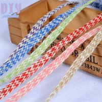 Wholesale lace roll wholesale - 100M colorful Retro Natural Burlap Ribbon Lace Tape Trim Rustic Jute Garland Hessian Roll Wedding Party Decoration Craft