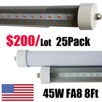 "Wholesale Led Tube Lights Base - Single Pin Fa8 Base led shop light 96"" inch cooler door bulbs 8ft T8 led tube lights 8 foot Fluorescent Tube Replacement fixtures"
