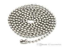 Grano de cadena de bola de metal plateado 10 Cm Conector Broche Tag Collar Llavero etiquetas de perro